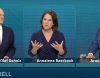 TV-Triell der Kanzlerkandidaten: Olaf Scholz und Armin Laschet im Schlagabtausch